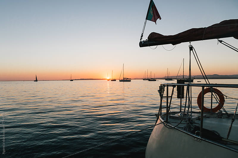 Sunset Boats by Agencia for Stocksy United
