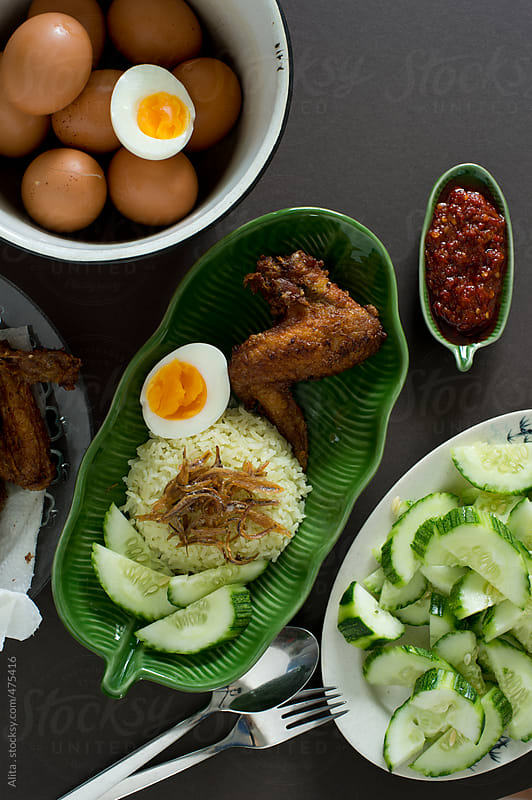 Nasi lemak by Alita Ong for Stocksy United