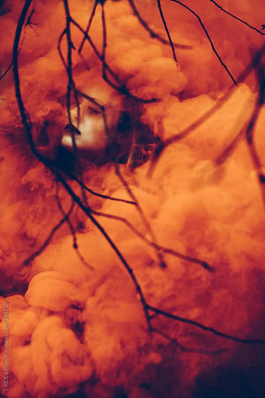 orange smoke by Danil Nevsky for Stocksy United