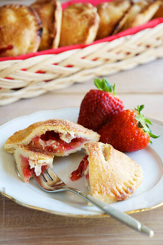 Strawberry Apple Hand Pies by Harald Walker for Stocksy United