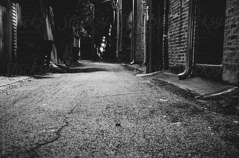 empty urban alley - horizontal by Margaret Vincent for Stocksy United
