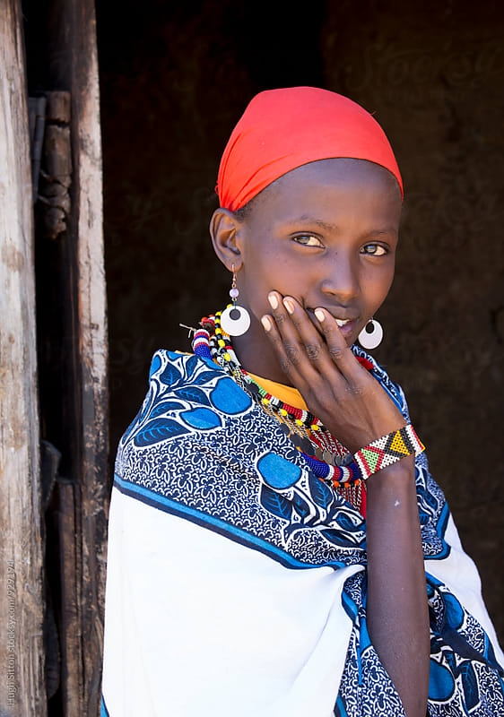 Portrait of Maasai woman. Kenya. by Hugh Sitton for Stocksy United