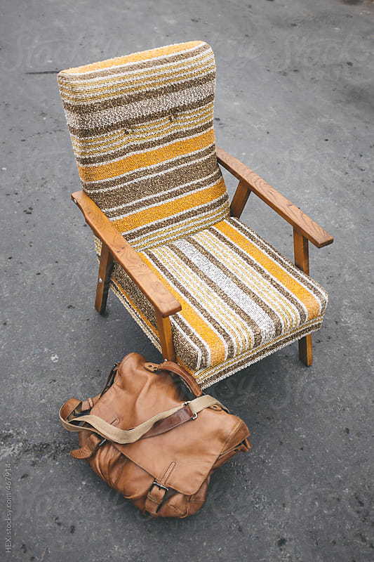 70s Vintage Armchair in the Middle of the Street by HEX. for Stocksy United
