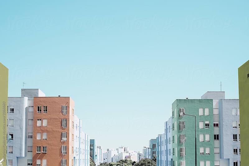 Pastel Neighborhood by Katarina Radovic for Stocksy United