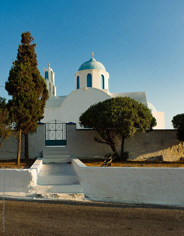 House in Santorini by Gary Radler Photography for Stocksy United