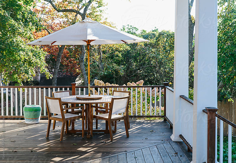 Porch in Autumn Season by Raymond Forbes LLC for Stocksy United