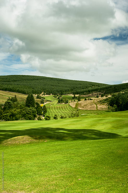Fairway of a golf course.  by Darren Muir for Stocksy United