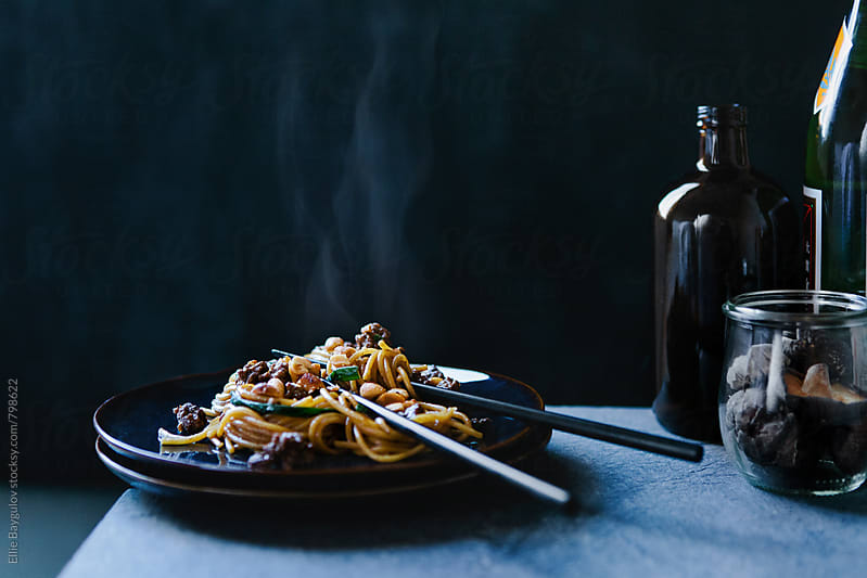 Dandan noodles by Ellie Baygulov for Stocksy United