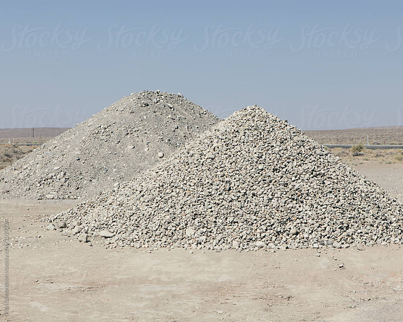 Gravel piles along road, near Jackpot, NV, USA by Paul Edmondson for Stocksy United