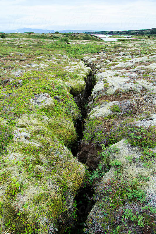 Joining of two tectonic plates. Almannagja. Iceland. by John White for Stocksy United