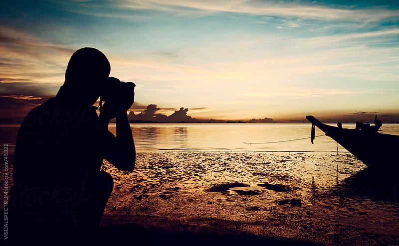 Landscape Photographer Shooting Sunset by VISUALSPECTRUM for Stocksy United