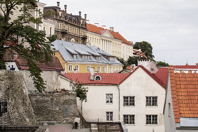 Houses at the cathedral hill (Toompea) in Tallinn by Melanie Kintz for Stocksy United