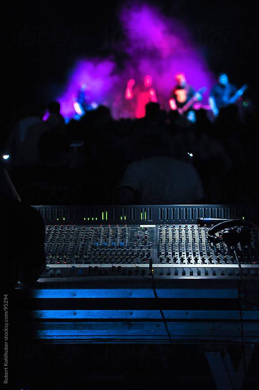 Sound equipment at concert by Robert Kohlhuber for Stocksy United