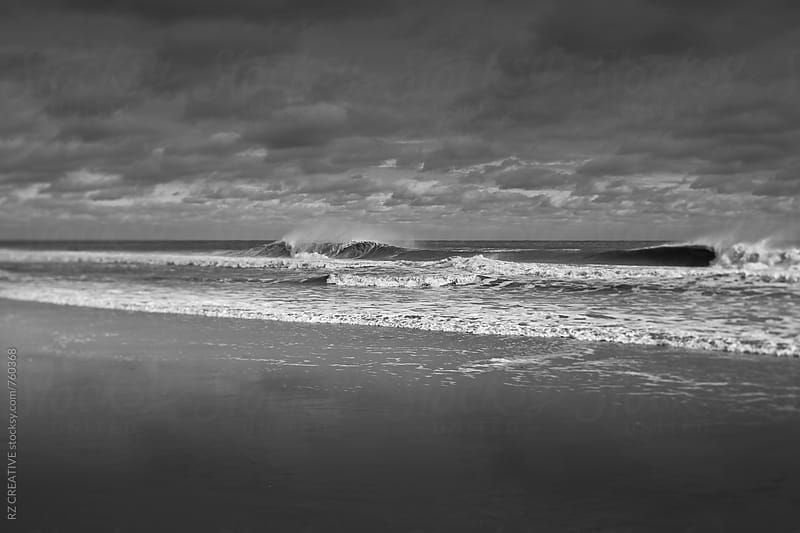 Winter waves in the Northeast. by Robert Zaleski for Stocksy United