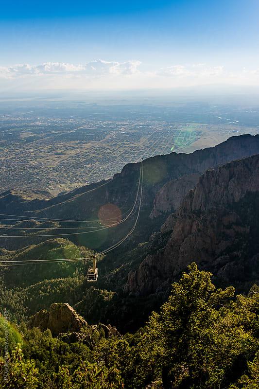 Sandia Peak Tram Albuquerque New Mexico Sandia Mountains Blue Sky by JP Danko for Stocksy United
