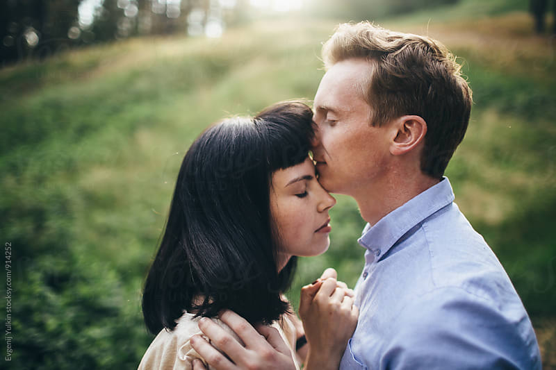 Young couple close-up by Evgenij Yulkin for Stocksy United