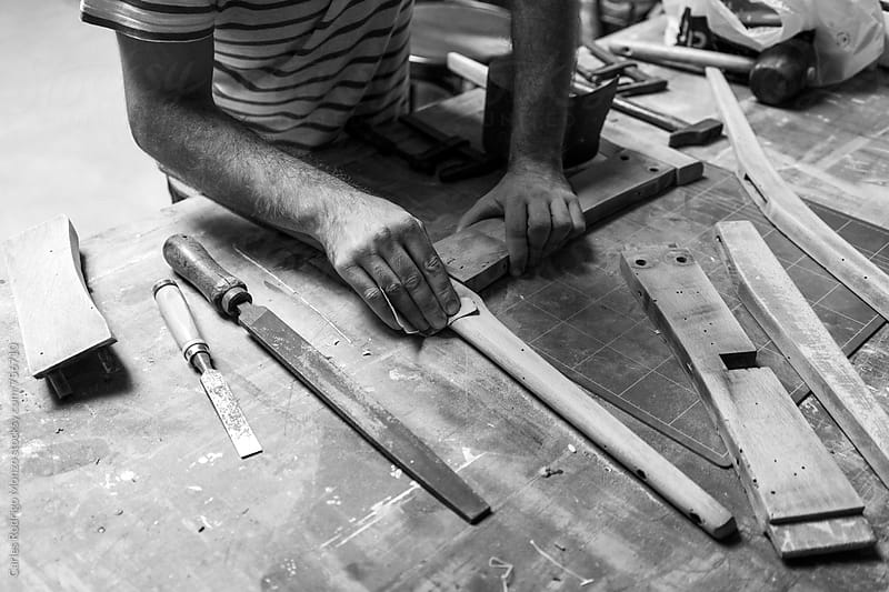 Craftsman working by Carles Rodrigo Monzo for Stocksy United