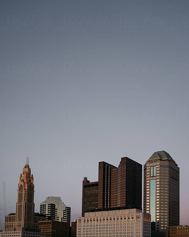 Small / Medium Skyline at Dusk by Austin Rogers for Stocksy United