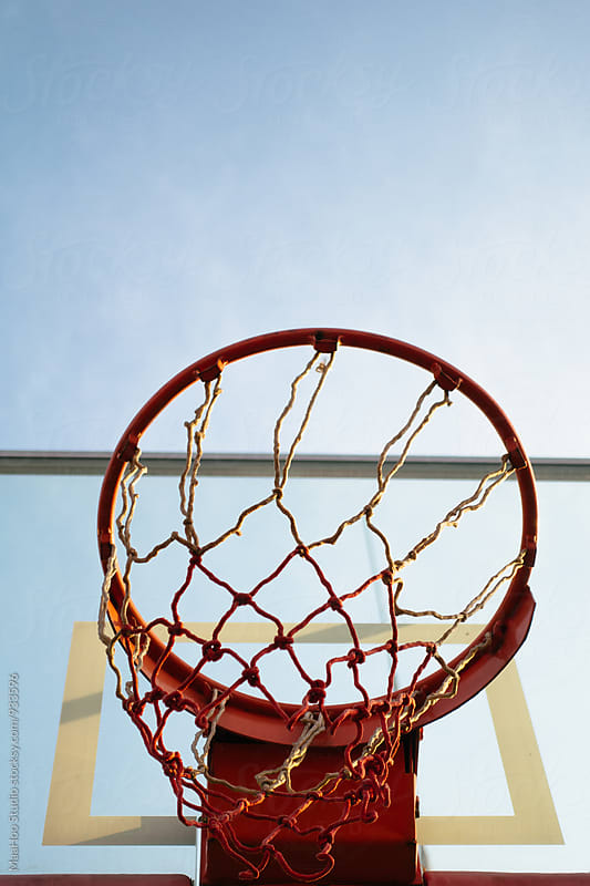 Basketball Hoop Against Sky by MaaHoo Studio for Stocksy United