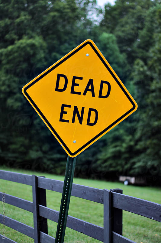 Dead End Sign by Kurt Heim for Stocksy United