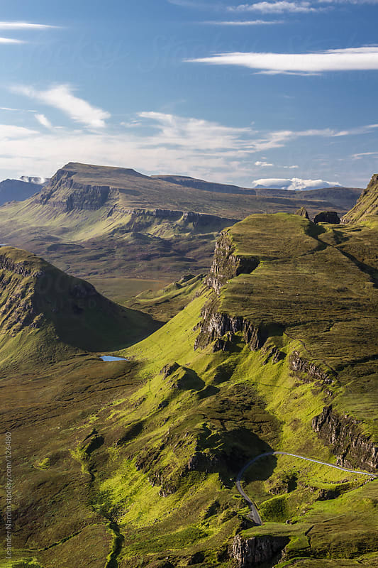 Sunrise on Quiraing, Isle of Skye by Leander Nardin for Stocksy United