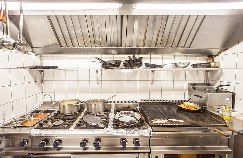 Modern Restaurant Kitchen by Mosuno for Stocksy United