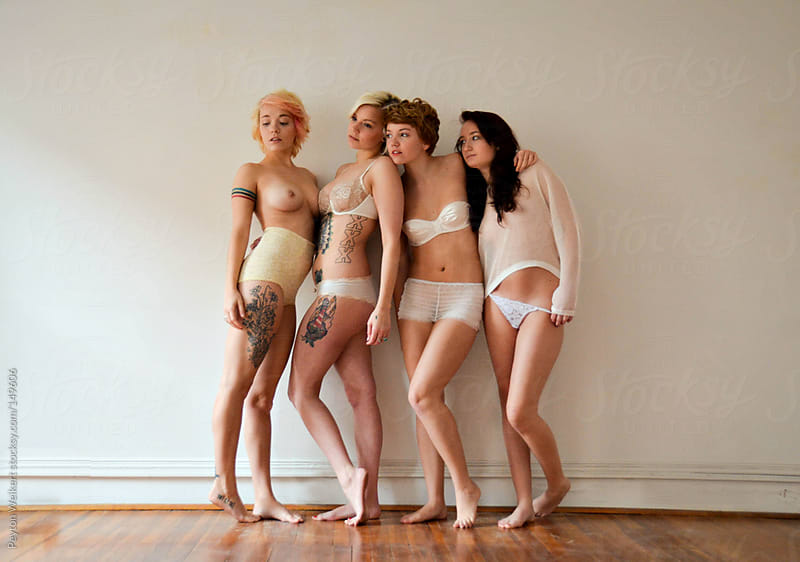 Young women in underwear by Peyton Weikert for Stocksy United