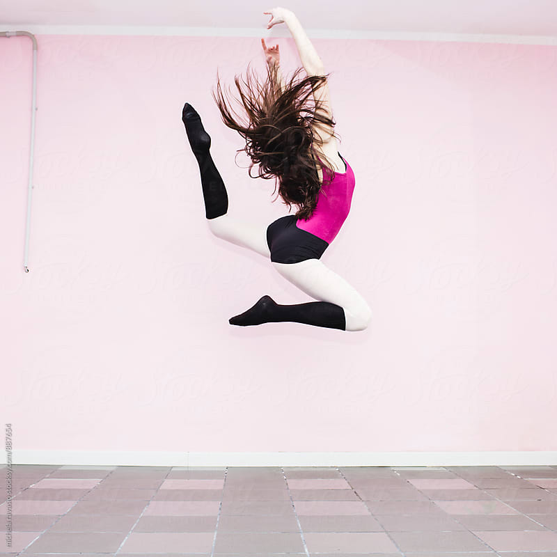 Dancer girl jumping  by michela ravasio for Stocksy United