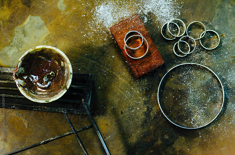 Making jewelry by hands by ZHPH Production for Stocksy United