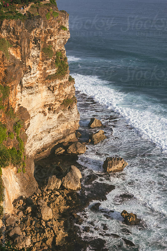 Cliff landscape. Bali. by BONNINSTUDIO for Stocksy United