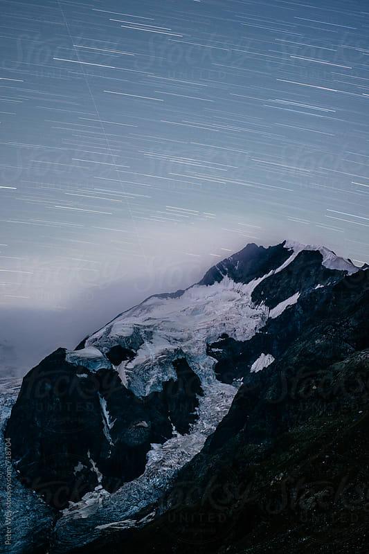 Piz Bernina by night by Peter Wey for Stocksy United