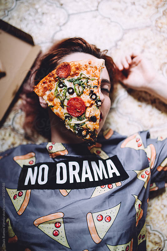 pizza woman by Thais Ramos Varela for Stocksy United