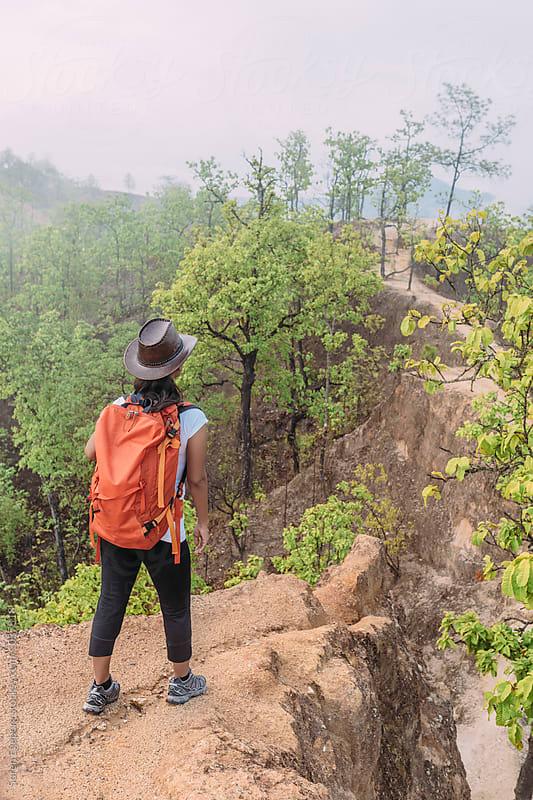 Female hiker on adventure trail by Soren Egeberg for Stocksy United