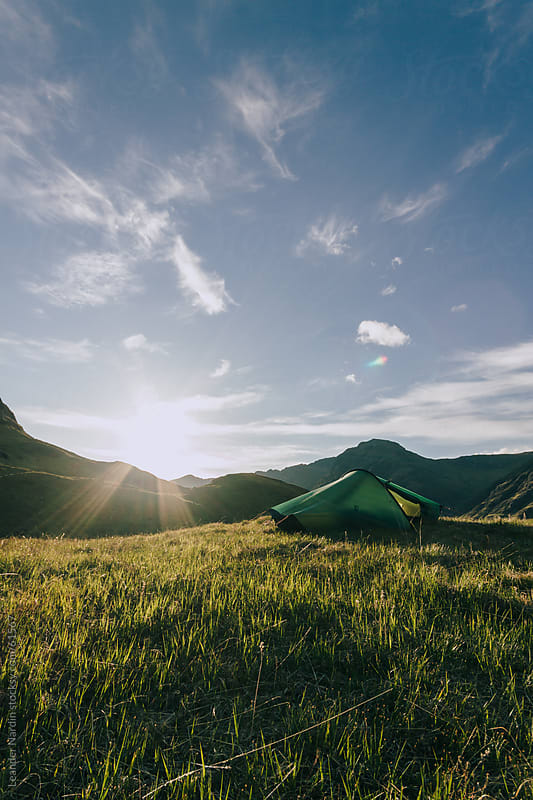 Sunrise in the scottish highlands by Leander Nardin for Stocksy United