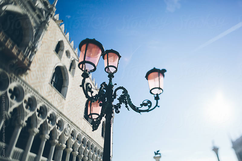 Street Lamp in Venice by Good Vibrations Images for Stocksy United
