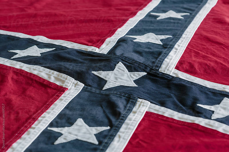 Rebel flag of the Confederate States of America by David Smart for Stocksy United