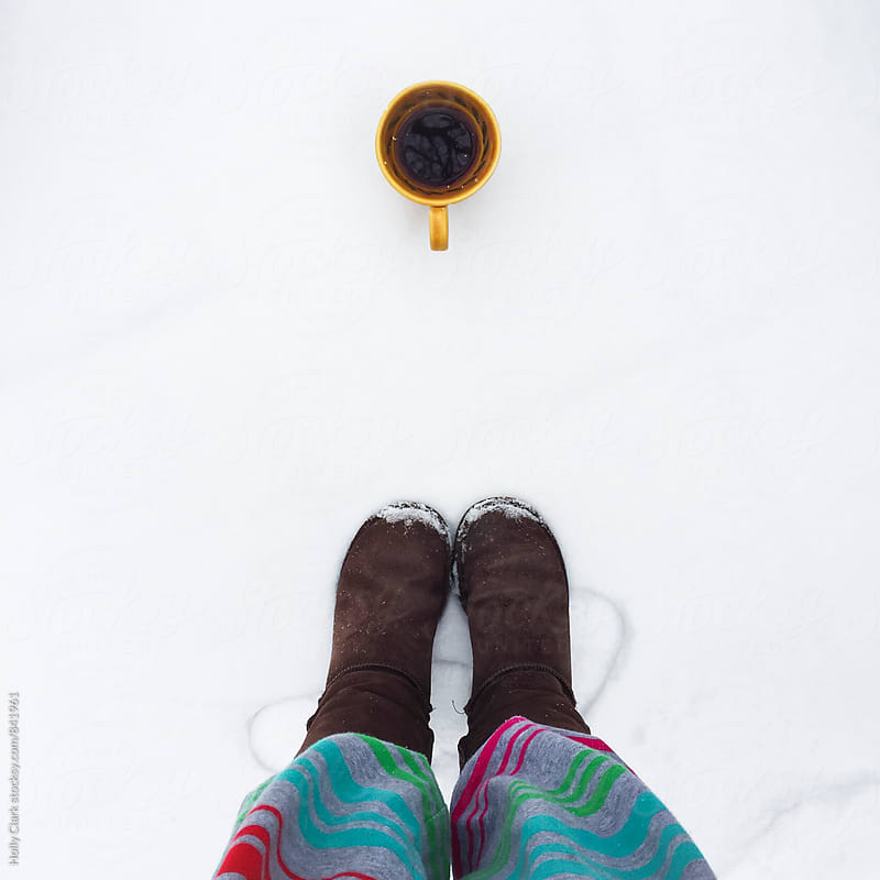 Coffee in the snow! by Holly Clark for Stocksy United