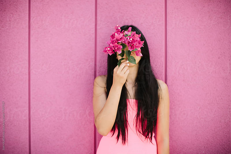 bougainvillea face by Joe+Kathrina for Stocksy United