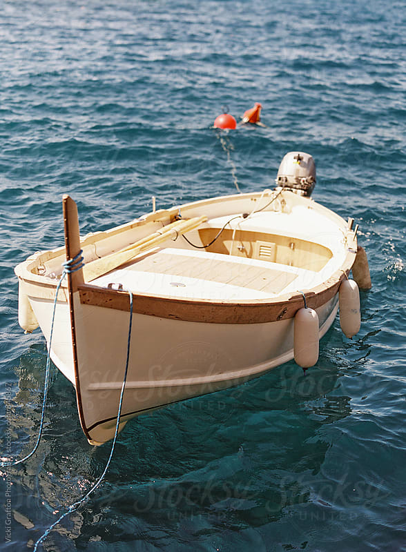 Wood boat in Cinque Terre Italy  by Vicki Grafton Photography for Stocksy United