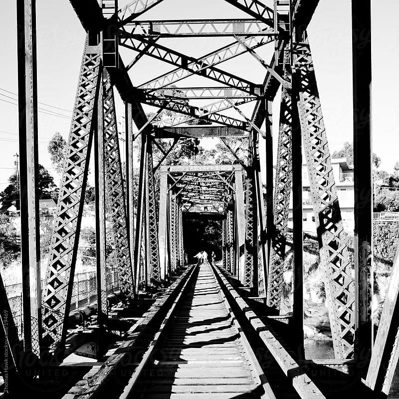 train bridge by Thomas Hawk for Stocksy United
