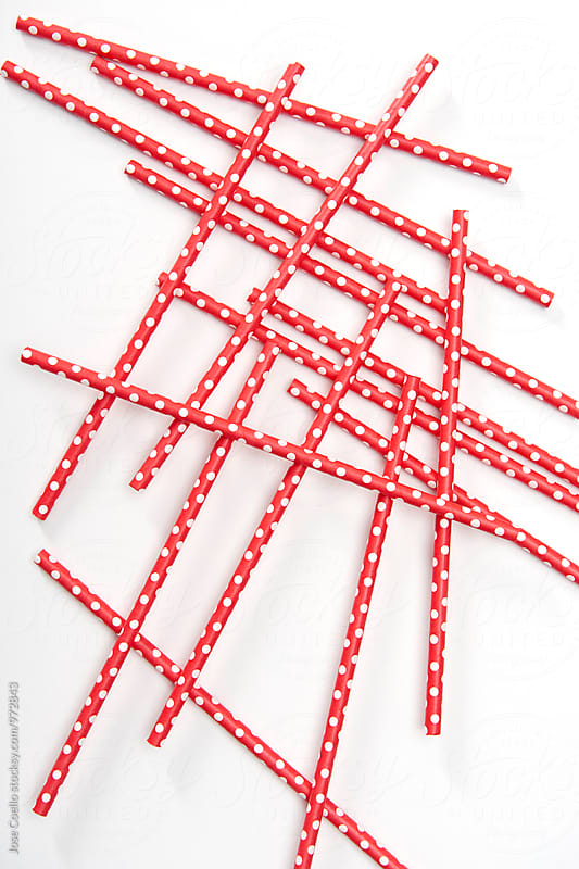 Colourful straw by Jose Coello for Stocksy United