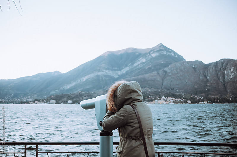 Woman looking the view of Bellagio -Italy by Giada Canu for Stocksy United