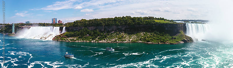 Panoramic Niagara Falls by Good Vibrations Images for Stocksy United