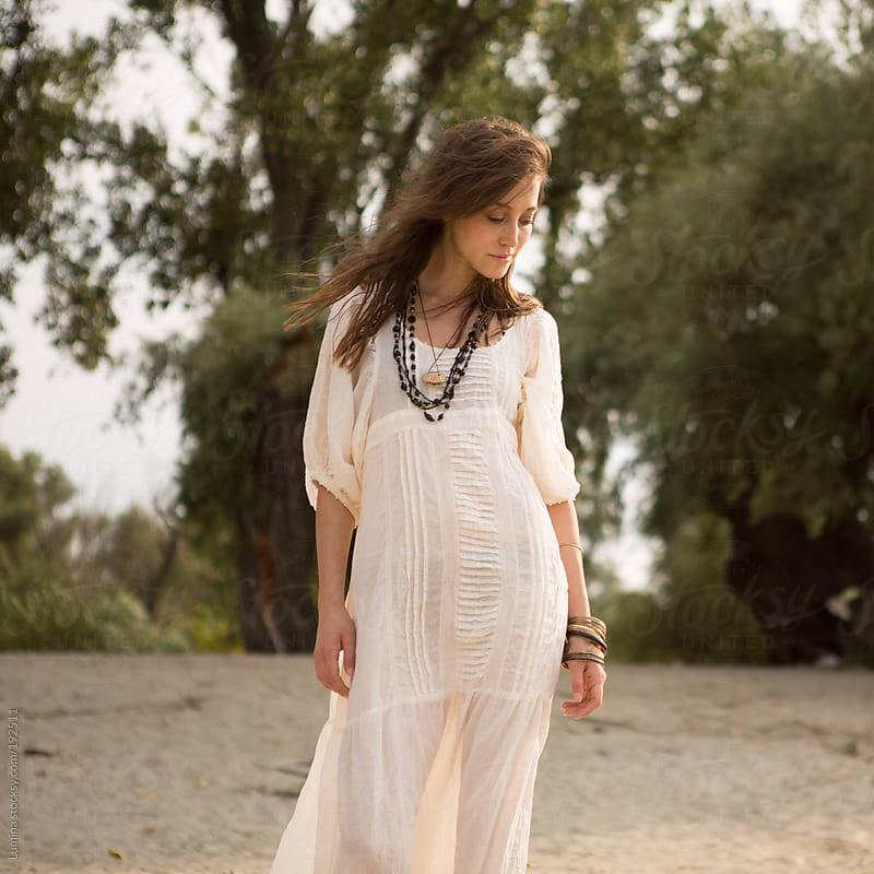 Woman in White by Lumina for Stocksy United