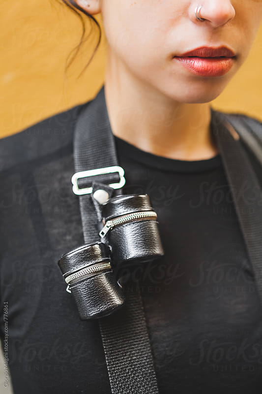 Old Camera Strap with Leather Film Holders by Giorgio Magini for Stocksy United