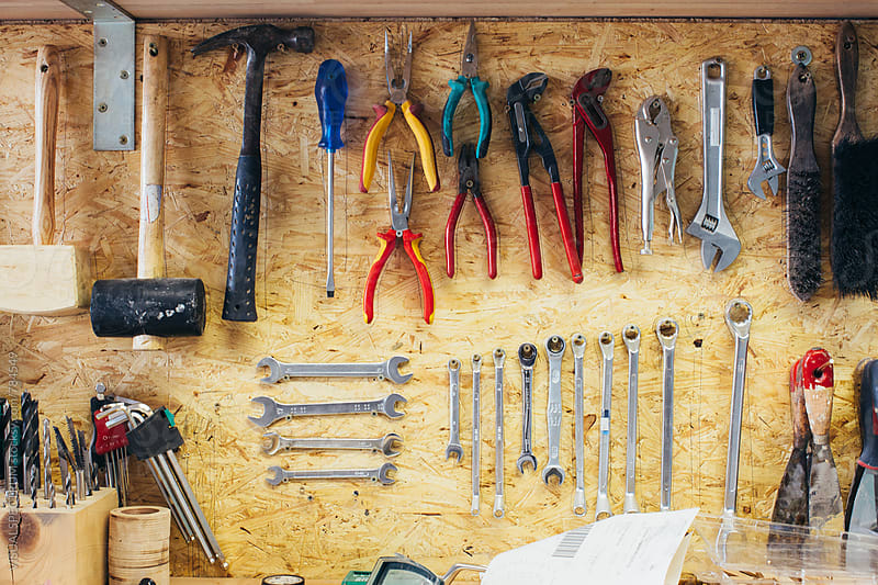 Tools - Carpenter Workbench Detail by Julien L. Balmer for Stocksy United