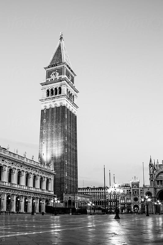 campanile di san marco on the famous st. marks square by Leander Nardin for Stocksy United