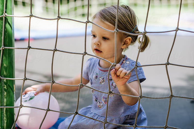 Cute Little Girl on the Playground by Aleksandra Jankovic for Stocksy United