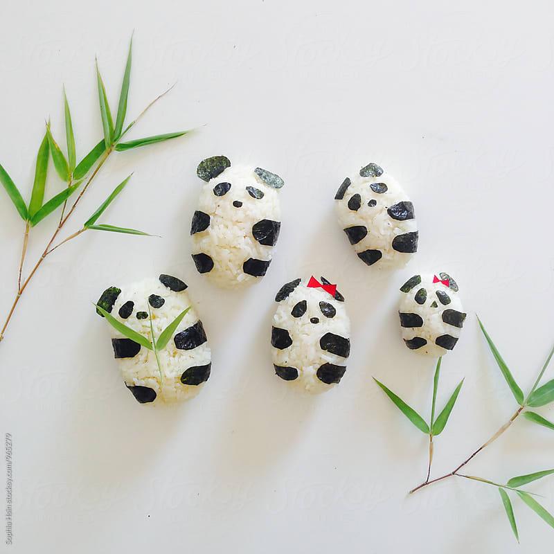Panda Rice Cake Family by Sophia Hsin for Stocksy United