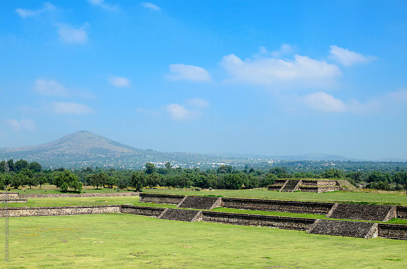 Teotihuacan ruins by Alice Nerr for Stocksy United